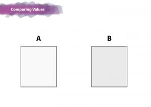 comparing values