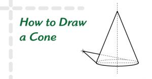 How to Draw a Cone | HelloArtsy.com