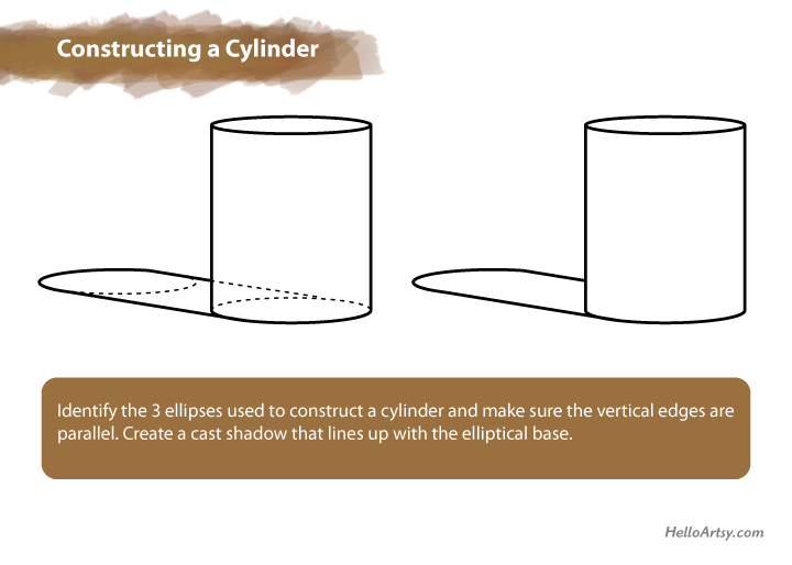 Constructing a Cylinder | How to Draw a Cylinder | HelloArtsy.com