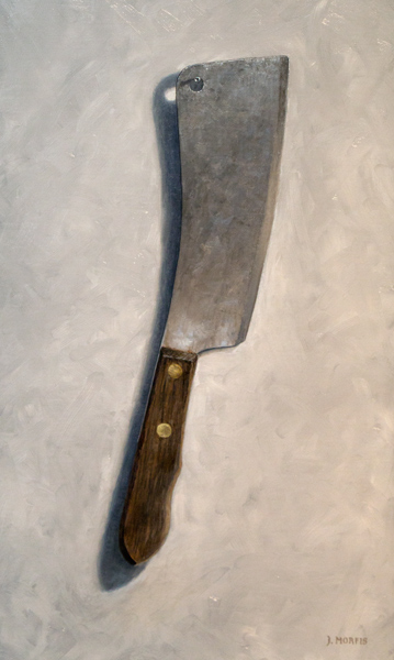 Painting of a Cleaver | Helloartsy.com