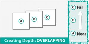 Creating Depth in Artwork: Overlapping