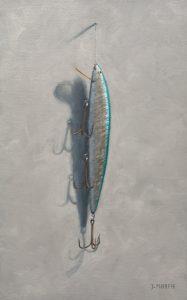 Aqua & Silver Lure Painting