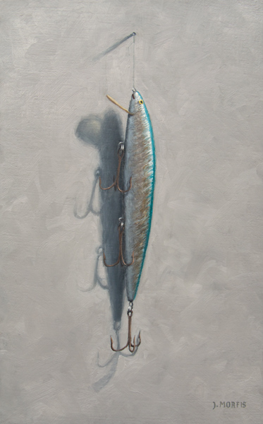 Aqua & Silver Lure Painting
