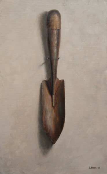 Old Green Garden Shovel Painting