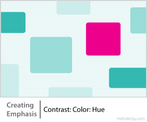 8 Ways for Creating Emphasis in Your Artwork | contrast: color: hue