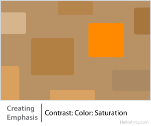 8 Ways for Creating Emphasis in Your Artwork | contrast: color: saturation