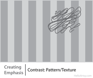 8 Ways for Creating Emphasis in Your Artwork | contrast: pattern or texture