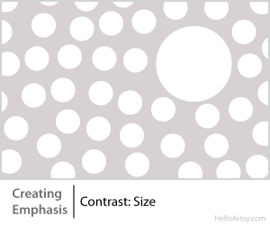 8 Ways for Creating Emphasis in Your Artwork | contrast: size