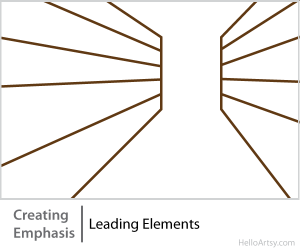 8 Ways for Creating Emphasis in Your Artwork | leading elements