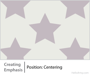 8 Ways for Creating Emphasis in Your Artwork | position: centering