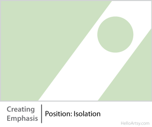8 Ways for Creating Emphasis in Your Artwork | position: isolation