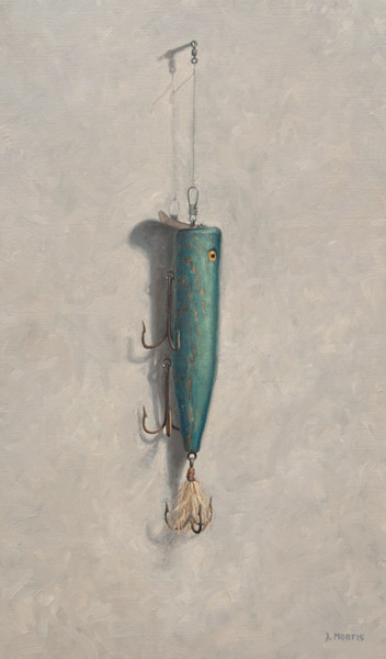 """Little Teddy's Big Plug"" • Fishing Lure Painting by John Morfis"