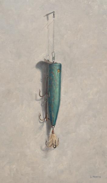 """Little Teddy's Big Plug"" • Fishing Lure Painting by John Morfis"