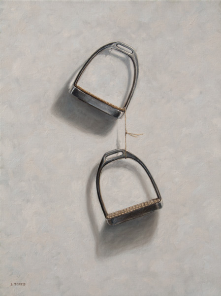 Carol's Stirrups • Oil Painting by John Morfis • Horse Tack Fine Art