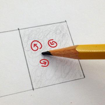 circular pencil shading