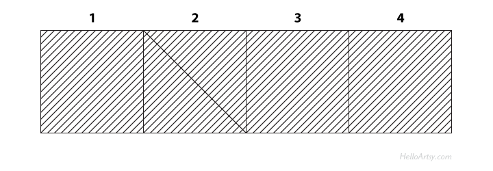 Crosshatching a Value Scale (Step 4) | The easy way to learn cross hatching | HelloArtsy.com