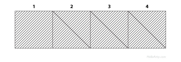 Crosshatching a Value Scale (Step 5) | The easy way to learn cross hatching | HelloArtsy.com