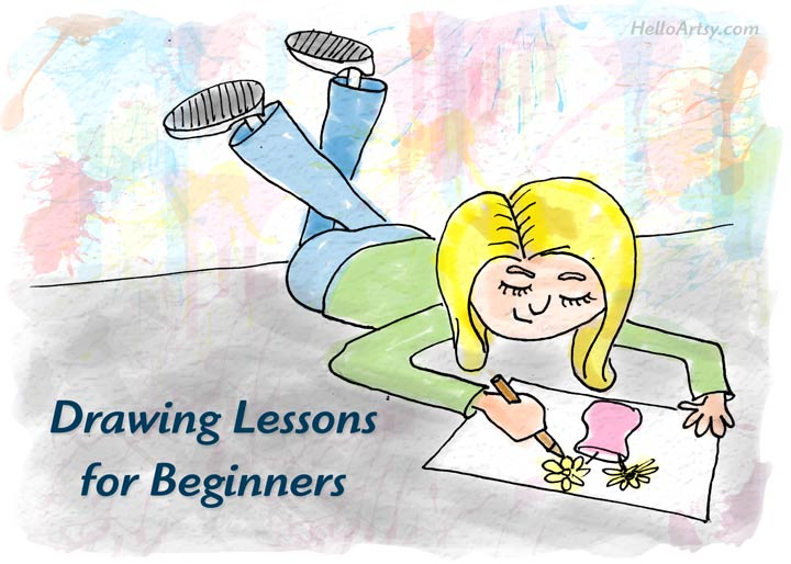 Drawing Lessons for Beginners: step by step instructions for budding artists!