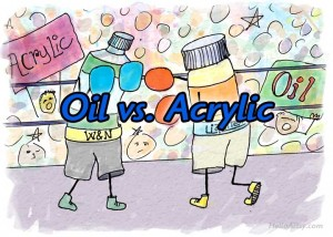 Oil vs. Acrylic: the difference between oil and acrylic paint!