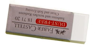 white plastic eraser (vinyl eraser)