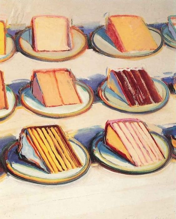 Thiebaud Cakes Painting