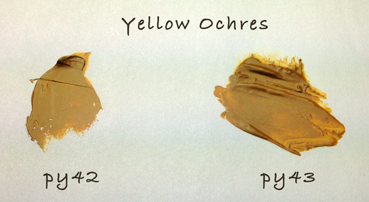 Yellow Ochre Oil Paints: PY42 vs. PY43 - HelloArtsy.com