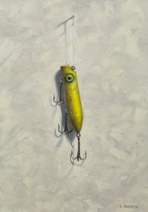 """""""Todd's Yellow Lure"""" Oil Painting by John Morfis"""