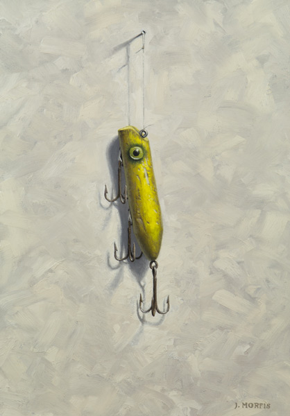 """Todd's Yellow Lure"" Oil Painting by John Morfis"
