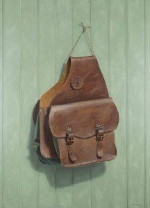 The Torn Saddle Bag • Oil • by John Morfis