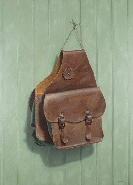 The Torn Saddle Bag • Oil • by John Morfis