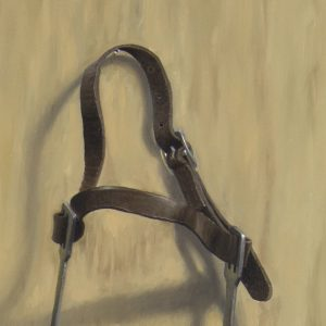 English Riding Spurs (detail of buckle) Oil Painting