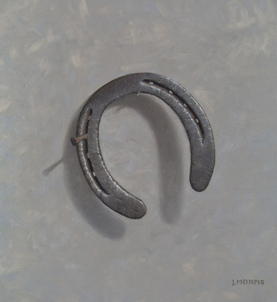 """Aristocrat's Misfortune"" Horseshoe Painting #5 in Oils"