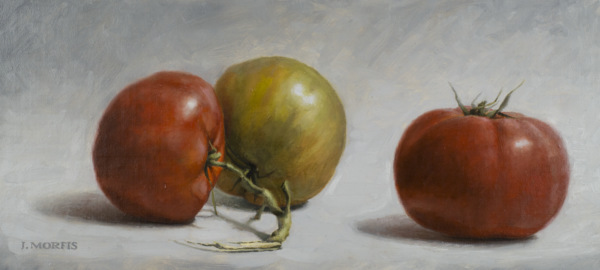 Uncle Ted's Tomatoes | Oil on Linen Mounted on Board