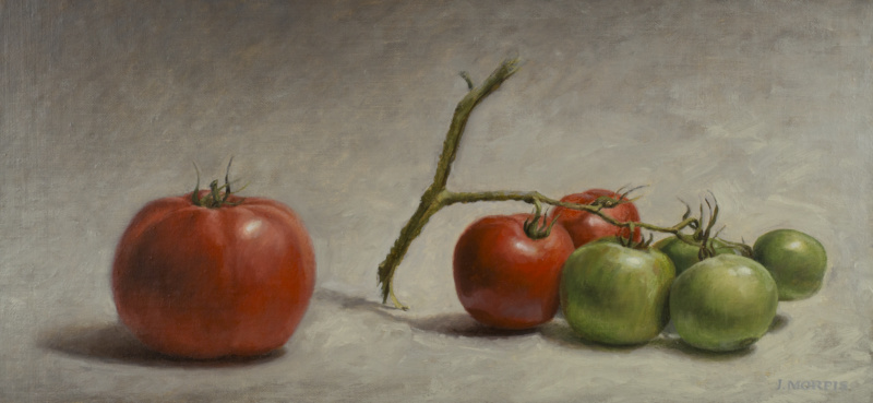 """Branching Out"" Tomato Painting by John Morfis"