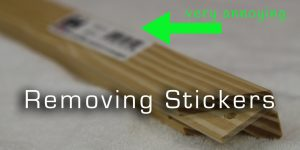 how to easily remove stickers