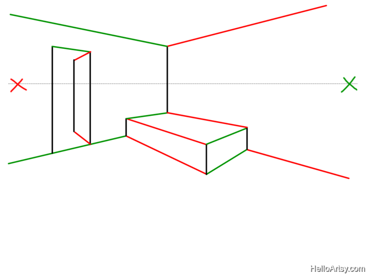 2 Point Perspective Drawing: Step by Step Guide for