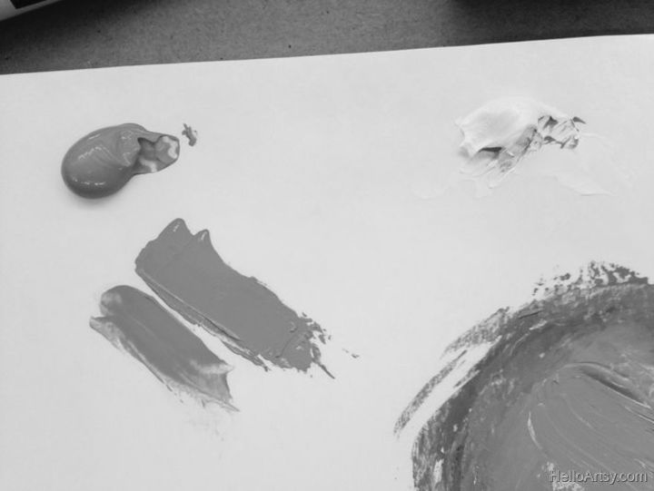 How To Mix Brown Paint: Step 6 (grayscale)