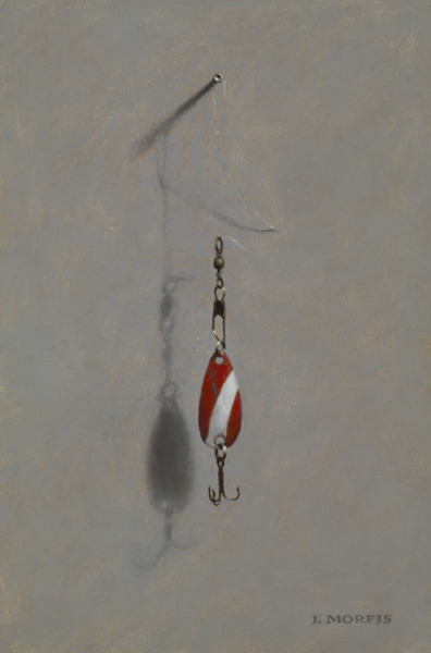 Red Devil Fishing Lure Painting by John Morfis