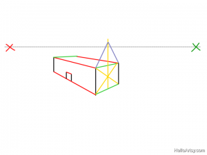 Two Point perspective Drawing: How To Guide - Step 12