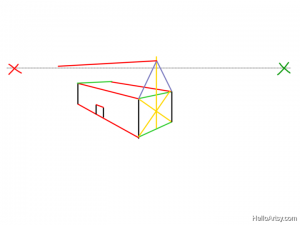 Two Point perspective Drawing: How To Guide - Step 13