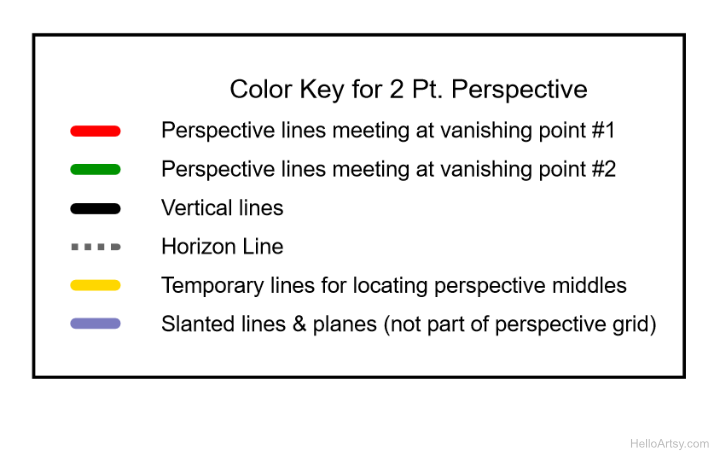 2pt perspective color key lesson