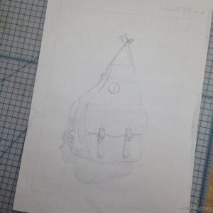 thumbnail drawing (preparatory line drawing for painting)