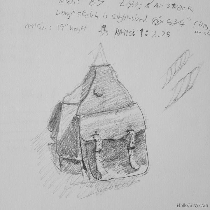 saddle bag thumbnail sketch