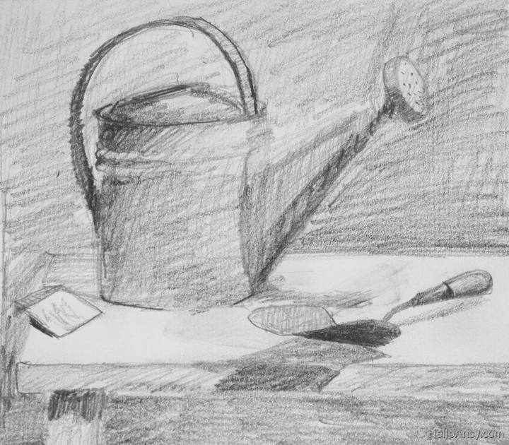 Still Life Thumbnail Drawing