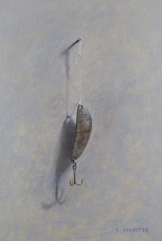 """Rusty Snapper Lure"" - oil painting by John Morfis"