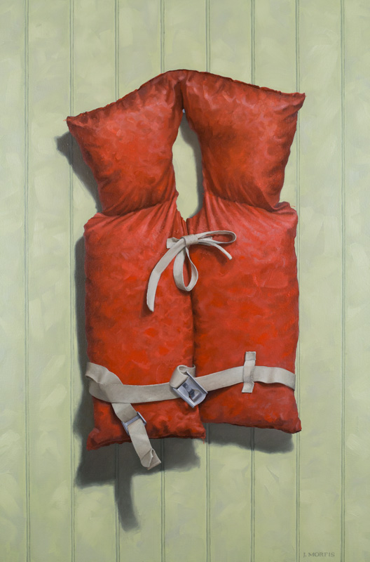 Life Jacket Painting - by John Morfis