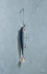 Striper Lure - painting by John Morfis