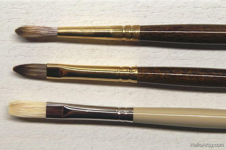 oil painting brush types
