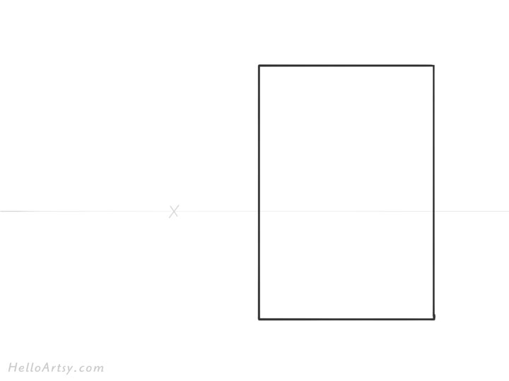 Drawing 1pt. Perspective Building: Step 1