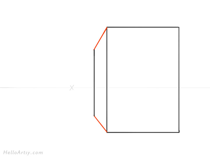Drawing 1pt. Perspective Building: Step 2